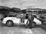 1968 Porsche 911 R  - $Fernand Schligler poses with co-driver Gérard Couzian and his new 911 R at the 1967 Tour de Corse.
