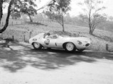 1955 Jaguar D-Type  - $Frank Gardner behind the wheel of XKD 520 in Orange, Australia in the Racing Car Scratch Series.