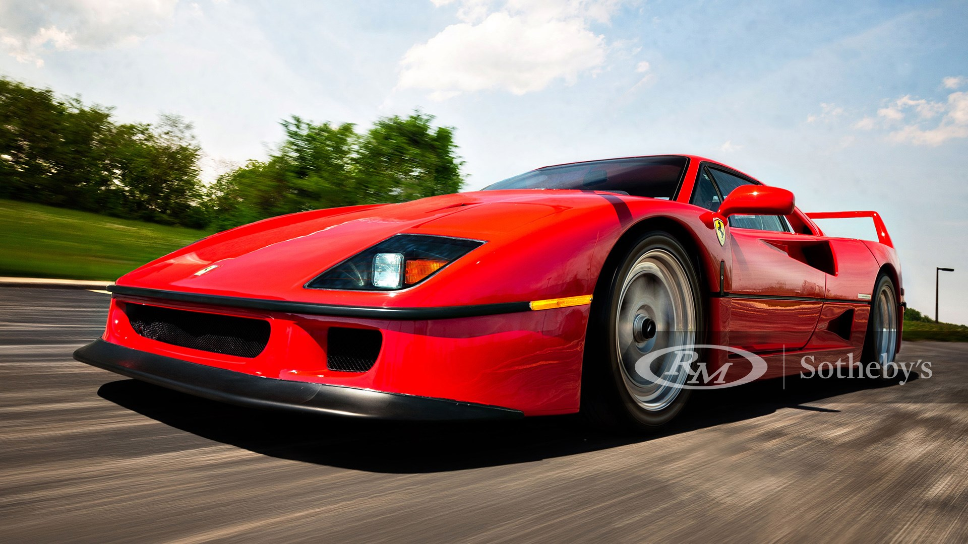 Rosso Corsa 1992 Ferrari F40 available at RM Sotheby's Amelia Island Live Auction 2021