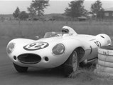 1955 Jaguar D-Type  - $XKD 520 as seen at Phillip Island on December 26, 1958 in the ownership of David Finch.