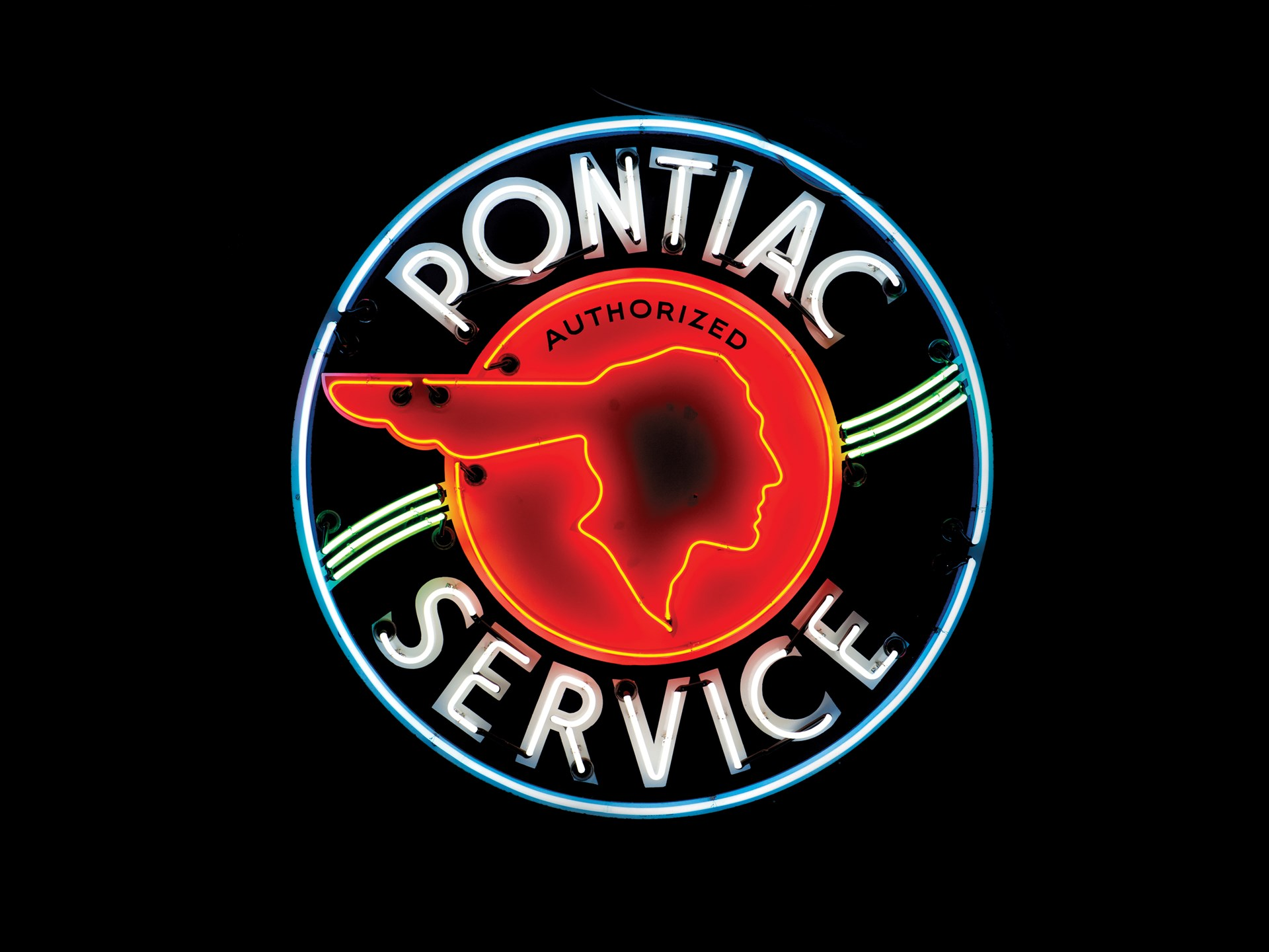 Rm Sotheby S Pontiac Authorized Service Neon Sign The Andrews Collection
