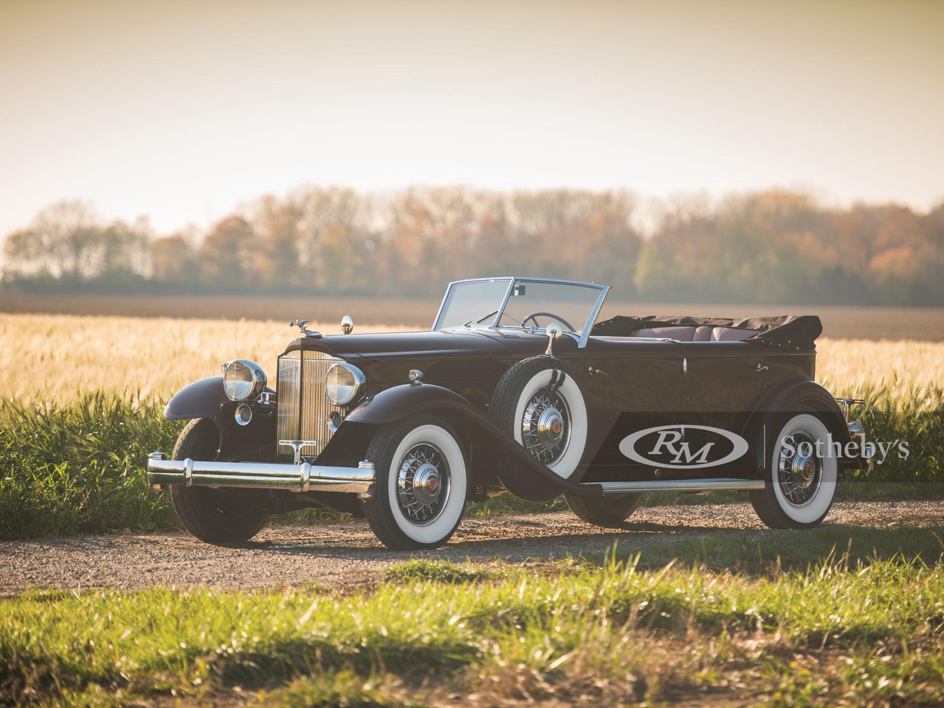 1932 Packard Twin Six Individual Custom Convertible Sedan by Dietrich