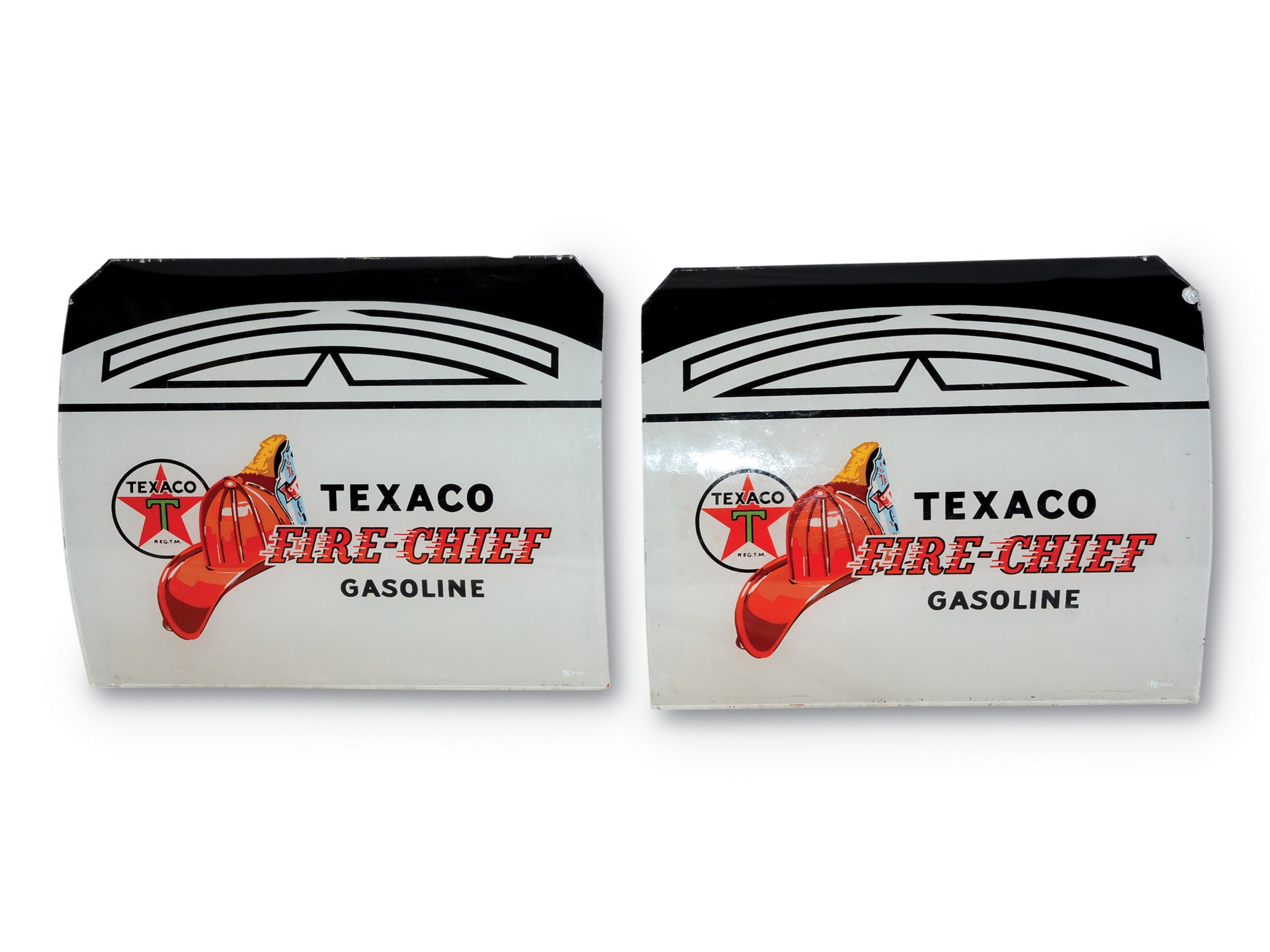 RM Sotheby's - Pair of Original Texaco Fire-Chief Gasoline Ad