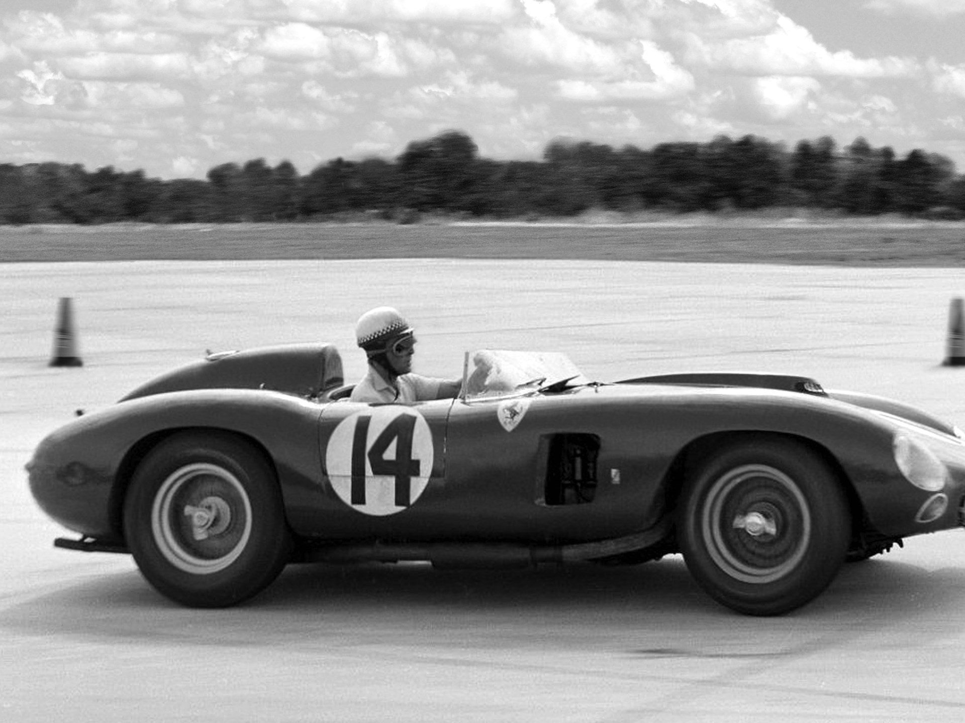 Chassis no. 0628 as seen at the 1957 12 Hours of Sebring.
