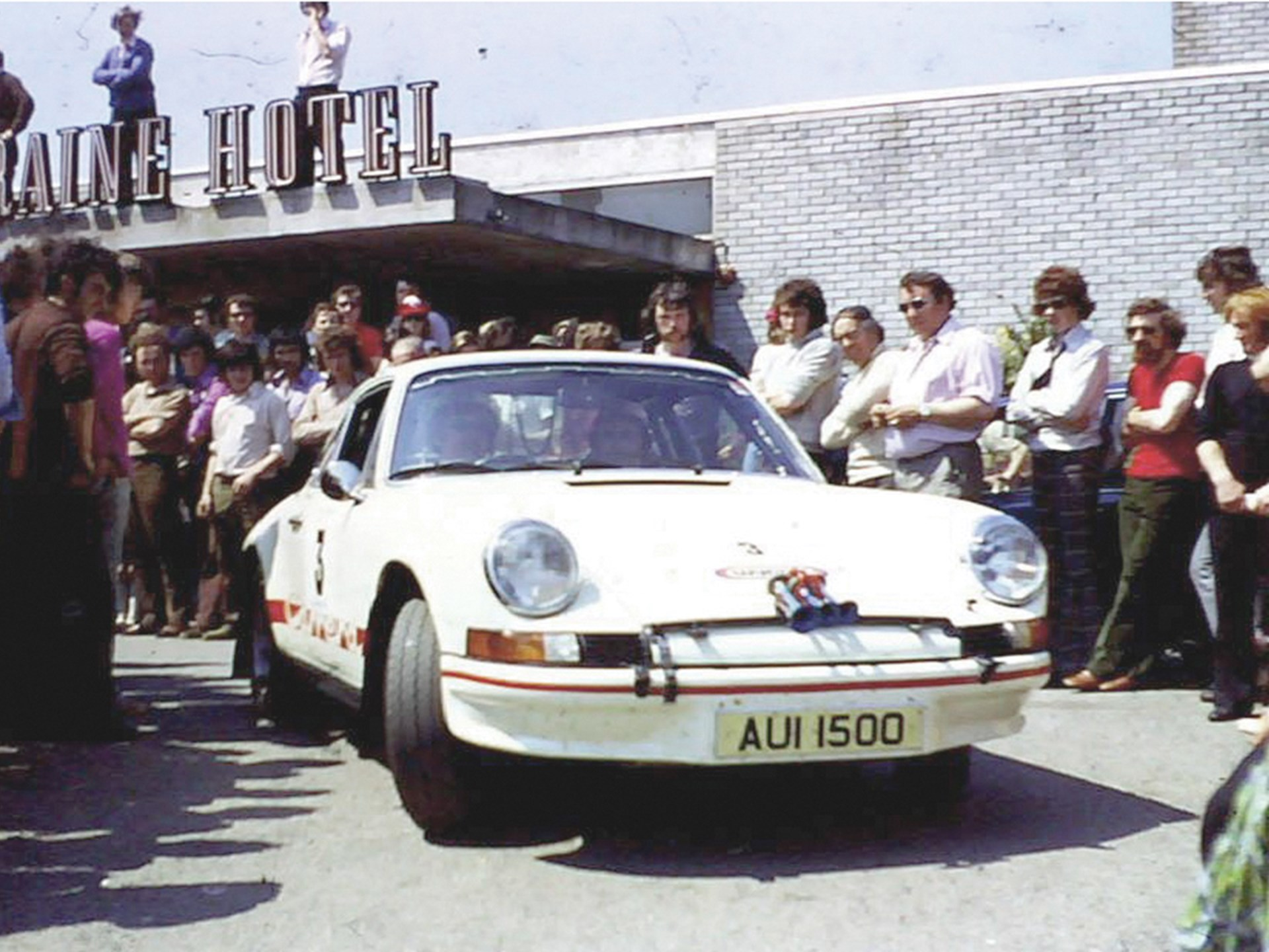 Cathal Curley at the helm of AUI 1500 for a repeat win at the 1974 Donegal International Rally.