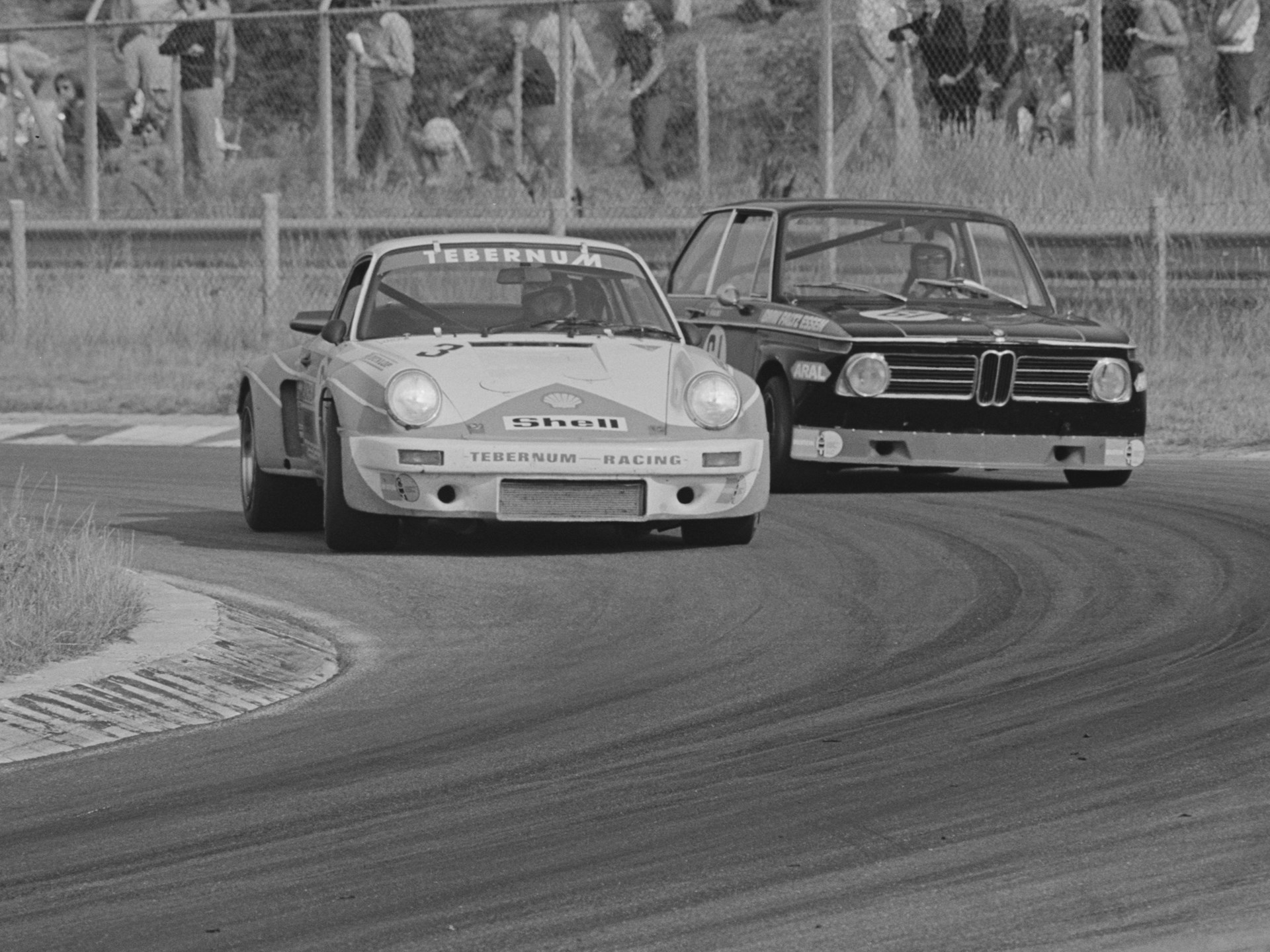 The RSR at speed at Zandvoort in 1975.