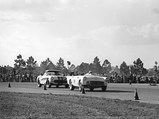 "1957 Ford Thunderbird # 98 Factory Racing Car ""The Battlebird""  - $Marvin Panch in the #58 Battlebird leading a corvette at the 1957 New Smyrna airport ""Road Race"" where it finished second behind Caroll Shelby's Ferrari."