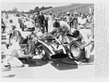 """1961 Cooper-Climax T54 """"Kimberly Cooper Spl.""""  - $In the pits at the 1961 Indianapolis 500, where Jack Brabham finished 9th overall."""