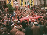 1956 Ferrari 290 MM by Scaglietti - $Chassis no. 0628 at the start of the 1956 Mille Miglia.