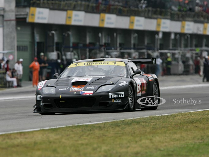 Ferrari 575 GTC, chassis no. F131 MGT 2224, being driven to 10th overall and 9th in class at the Brno Supercar 500, part of the 2005 FIA GT Championship.