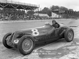 1935 Alfa Romeo Tipo C 8C 35  - $Rex Mays in chassis 50012, whose engine is now in the Giddings 8C 35, at the 1938 Indianapolis 500.