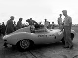 1955 Jaguar D-Type  - $XKD 558 was originally supplied to Oxford Motors in Vancouver and spent some time in the Plimley Motors showroom, used for occasional sprint demonstrations.