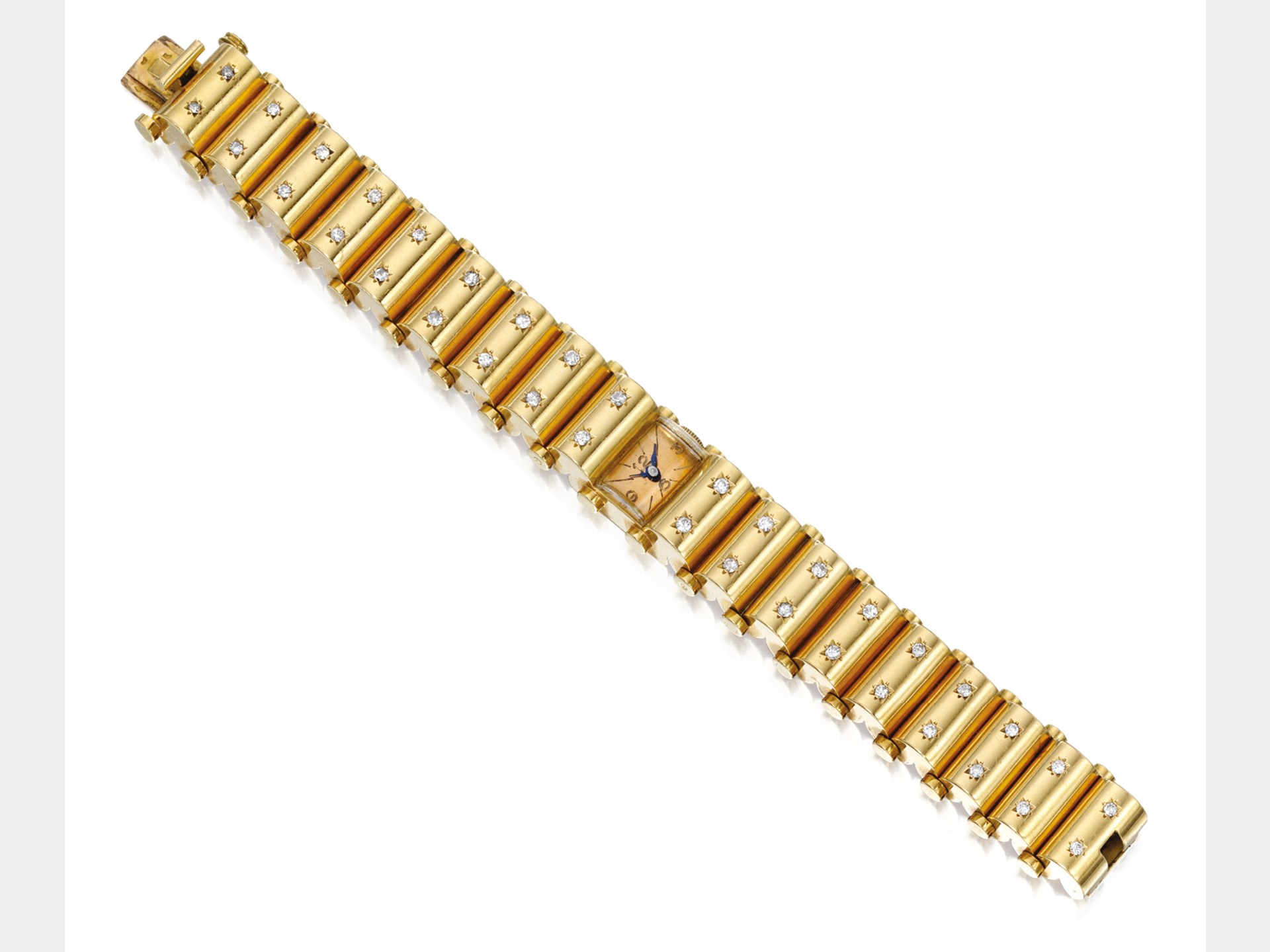 Van Cleef & Arpels, Gold and Diamond Wristwatch