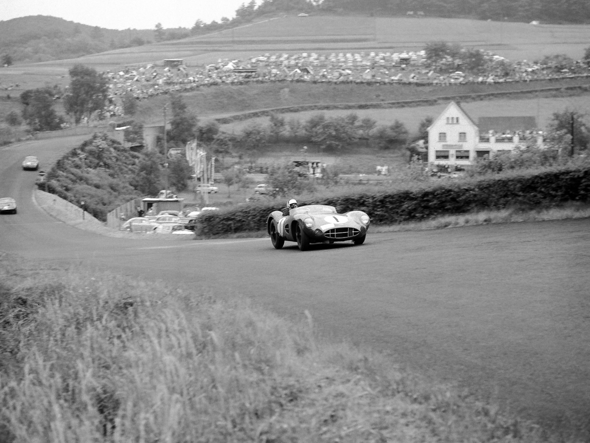 DBR1/1 at the 1959 1000km of the Nürburgring where it finished first overall.