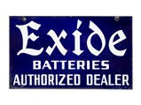 Exide Battery and Hudson Signs - $