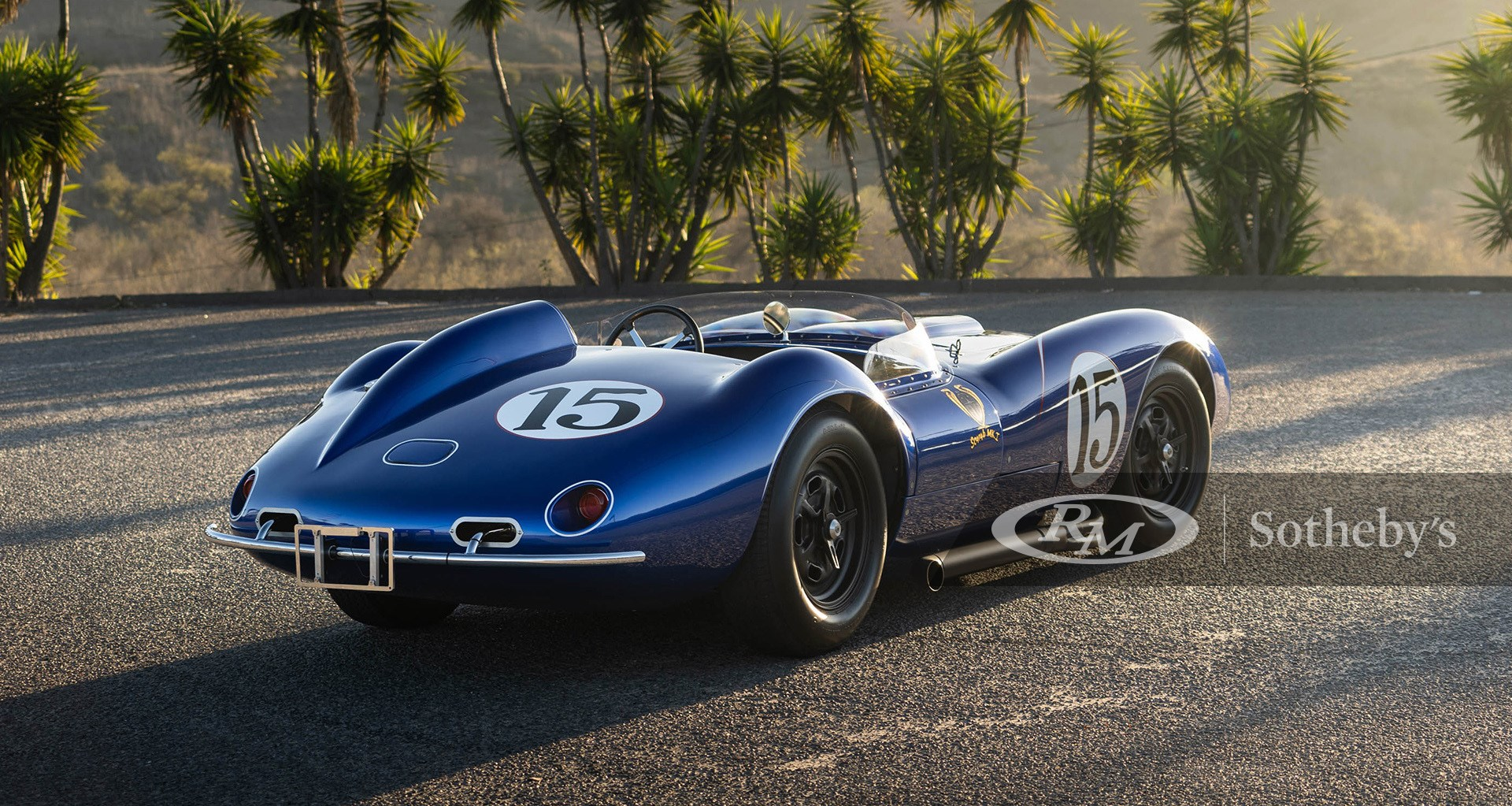 Scarab racing blue 1958 Scarab Reproduction available at RM Sotheby's Online Only Open Roads February Auction 2021