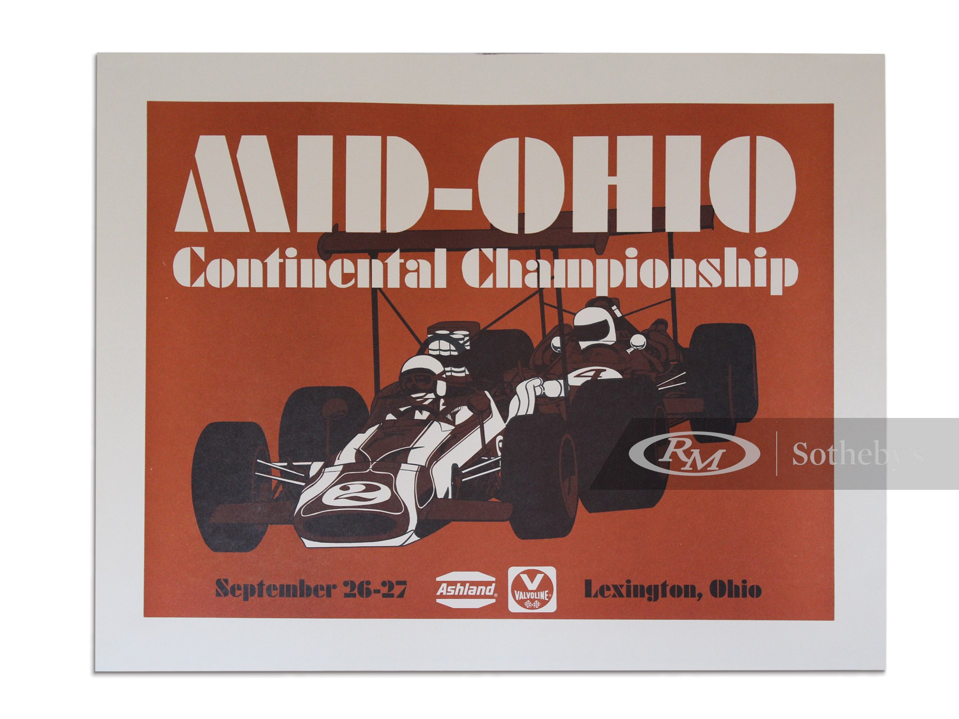 """""""Mid-Ohio Continental Championship September 26-27"""" Vintage Event Poster, ca. 1969 -"""