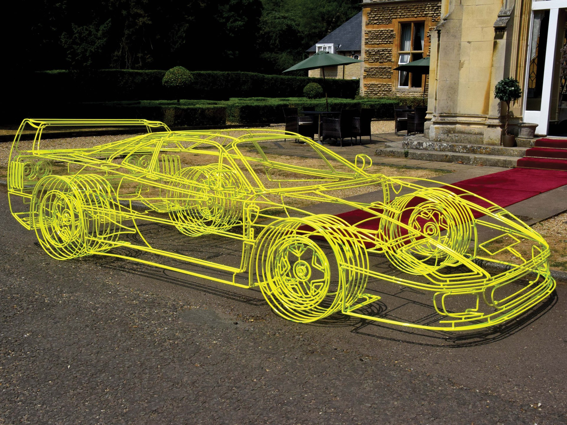 Ferrari F40 Wireframe Sculpture by Benedict Radcliffe, 2018