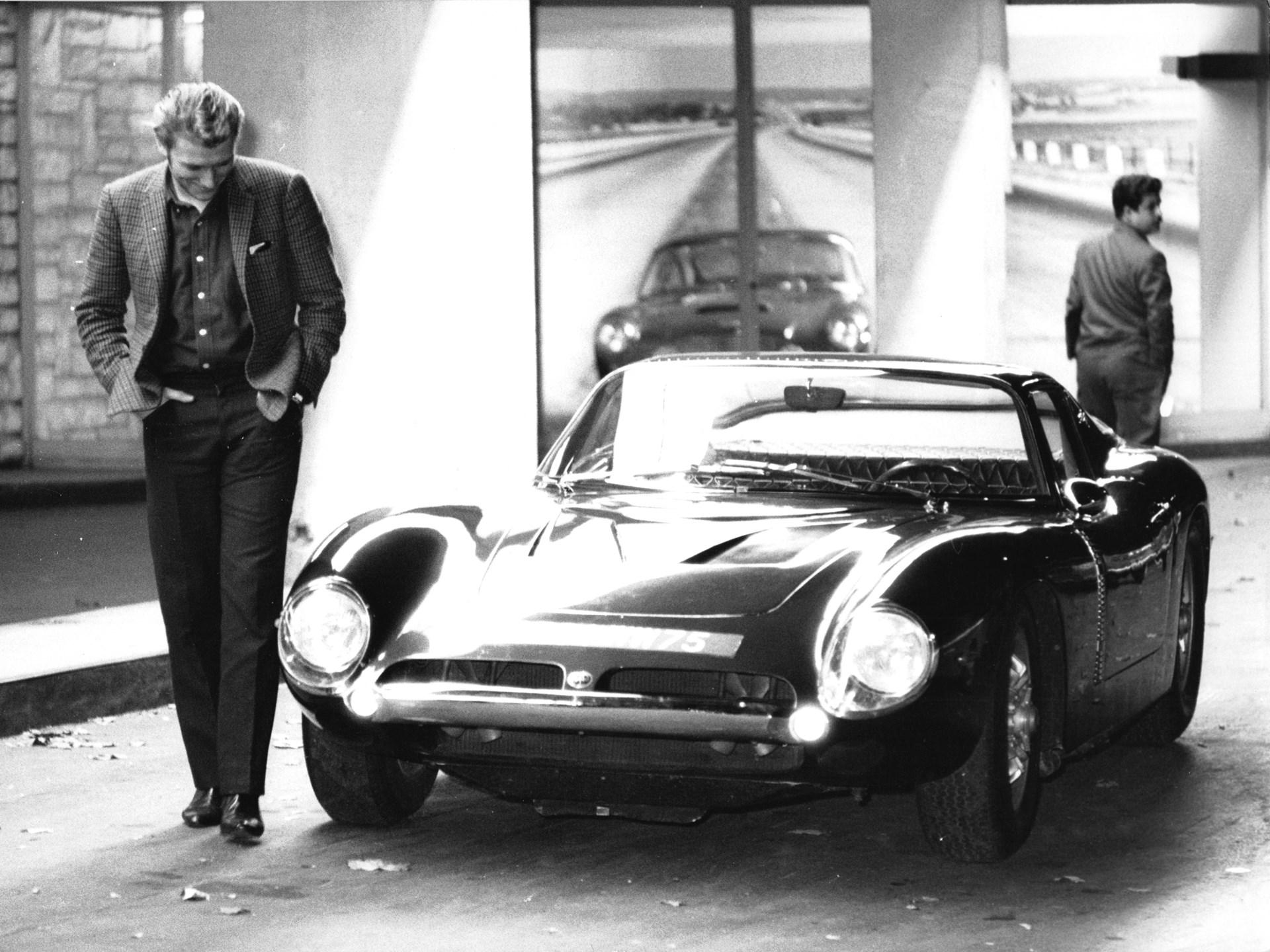 Johnny Hallyday admires his Iso Grifo A3/C in Paris.